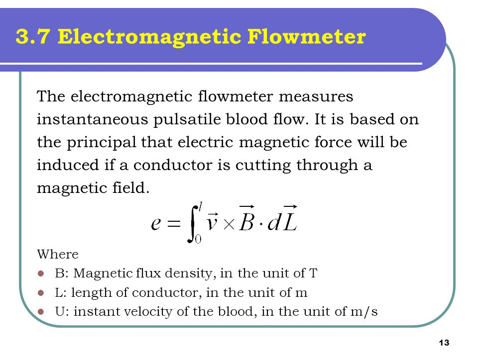 3.7 Electromagnetic Flowmeter