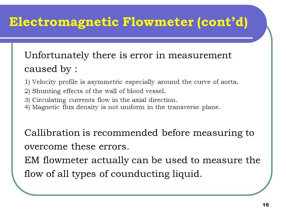 Electromagnetic Flowmeter (cont'd)