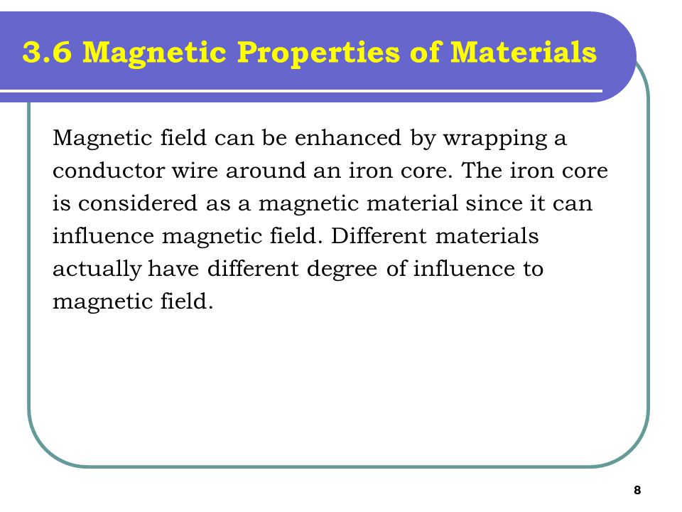 3.6 Magnetic Properties of Materials