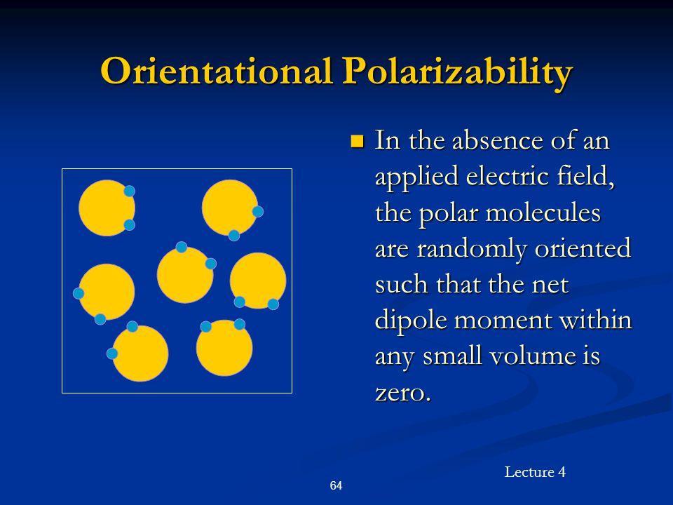 Orientational Polarizability