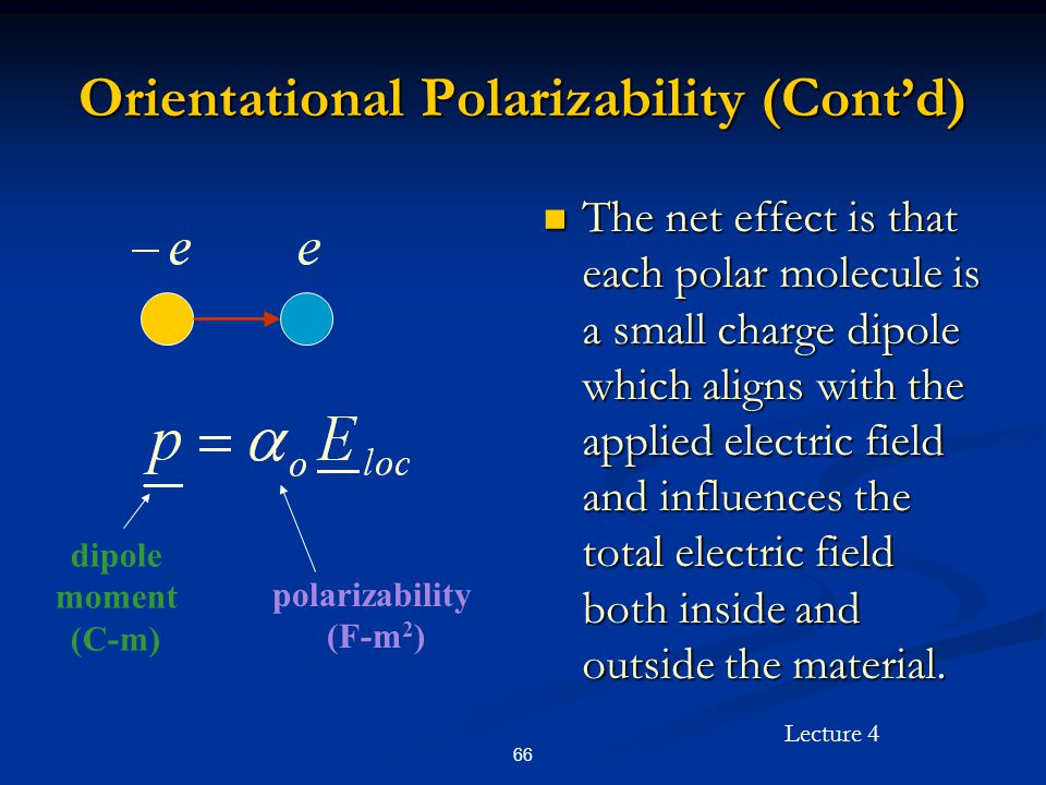 Orientational Polarizability (Cont'd)
