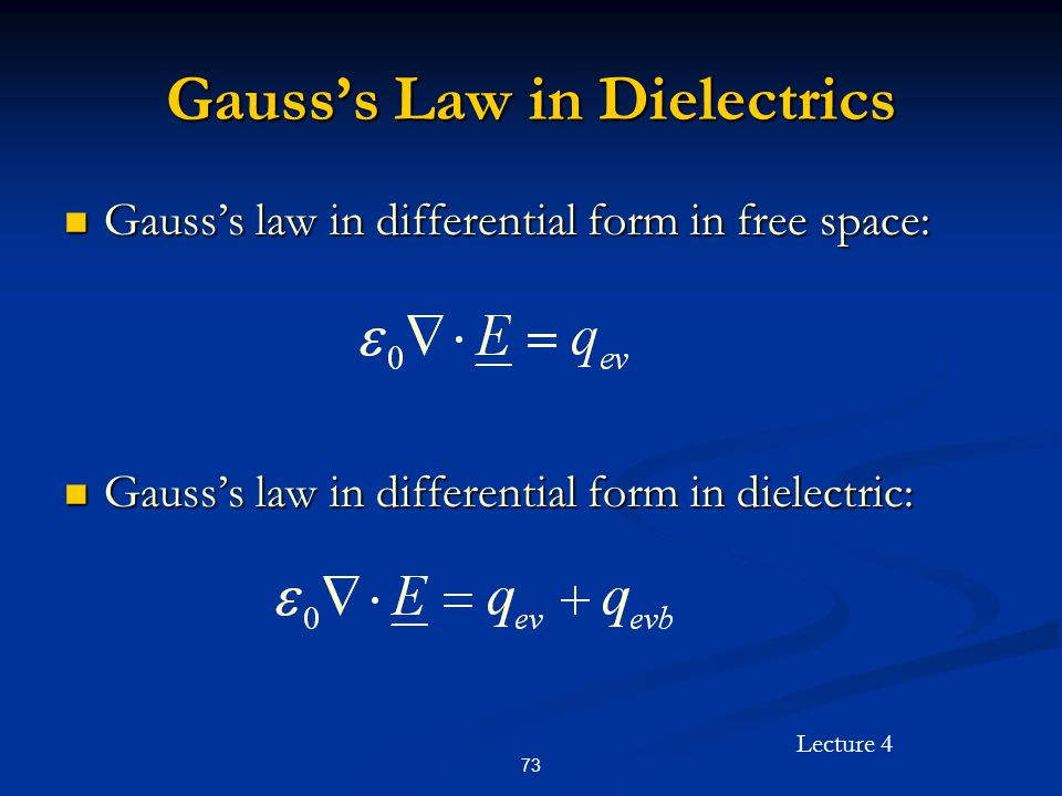 Gauss's Law in Dielectrics
