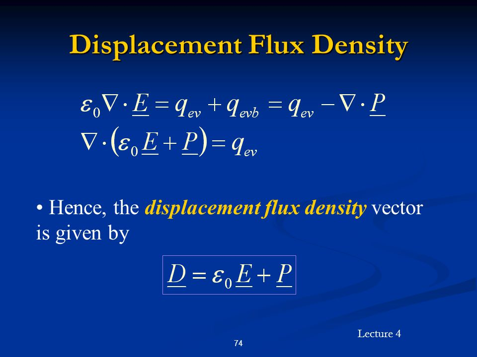 Displacement Flux Density
