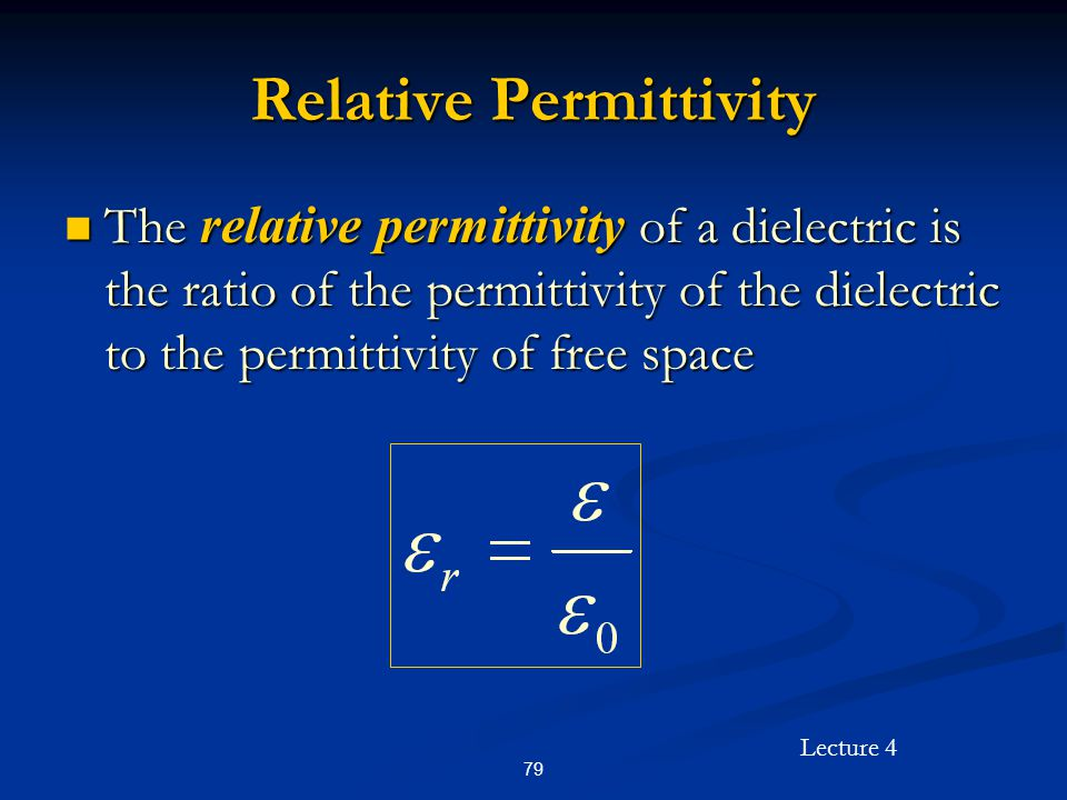 Relative Permittivity