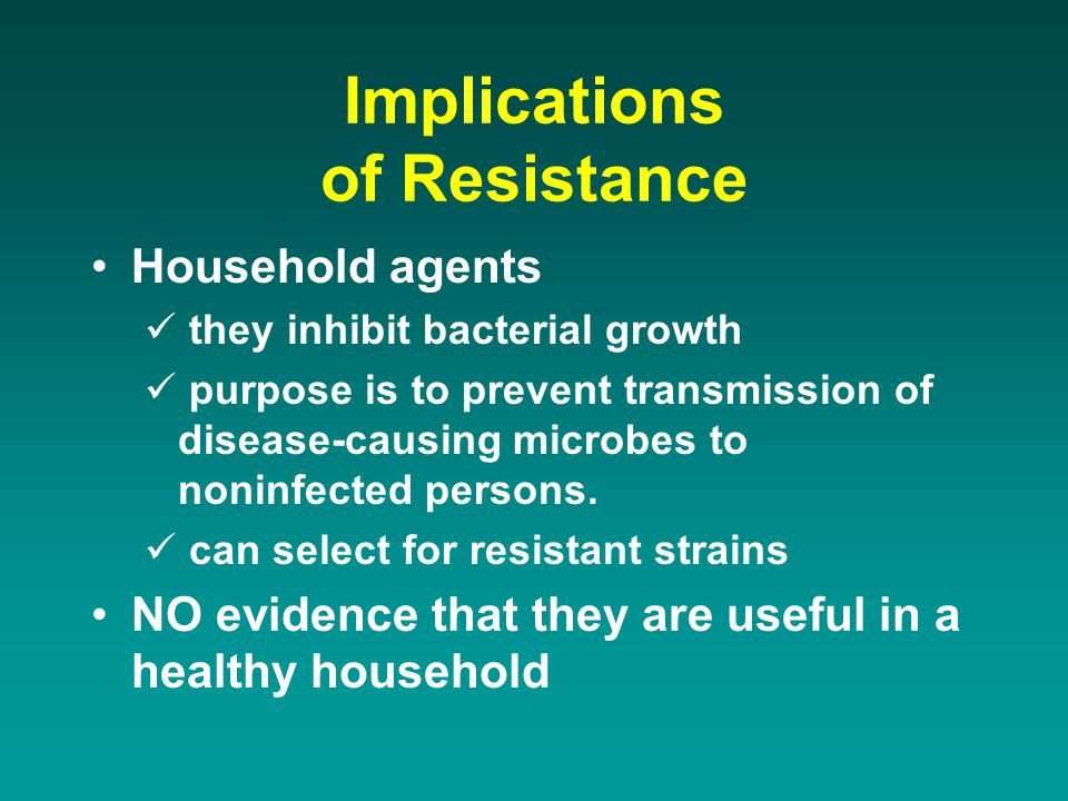 Implications of Resistance