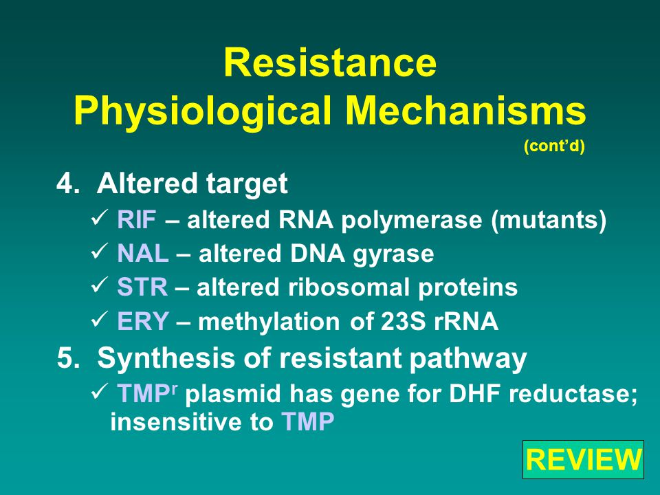 Resistance Physiological Mechanisms