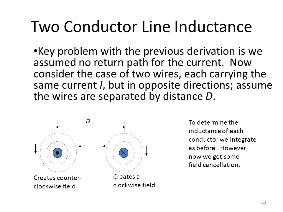 Two Conductor Line Inductance