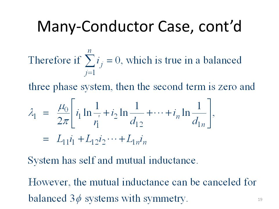 Many-Conductor Case, cont'd