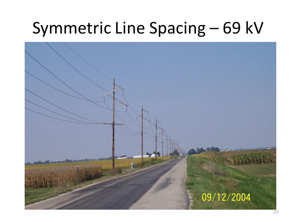 Symmetric Line Spacing – 69 kV