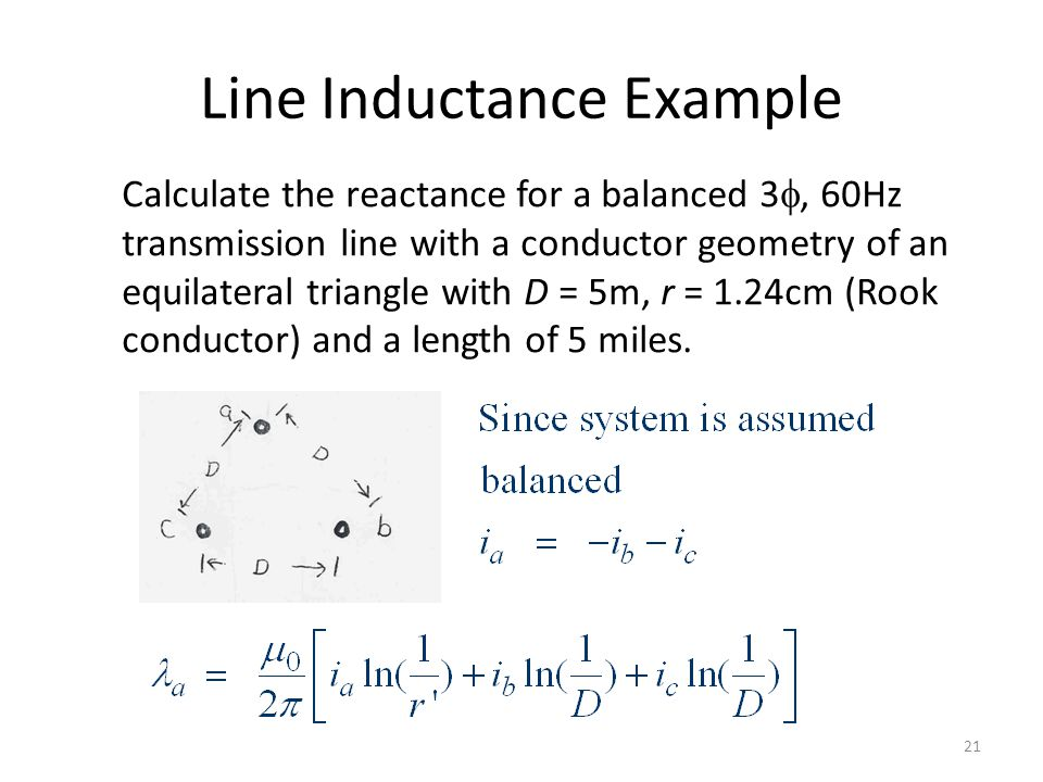 Line Inductance Example