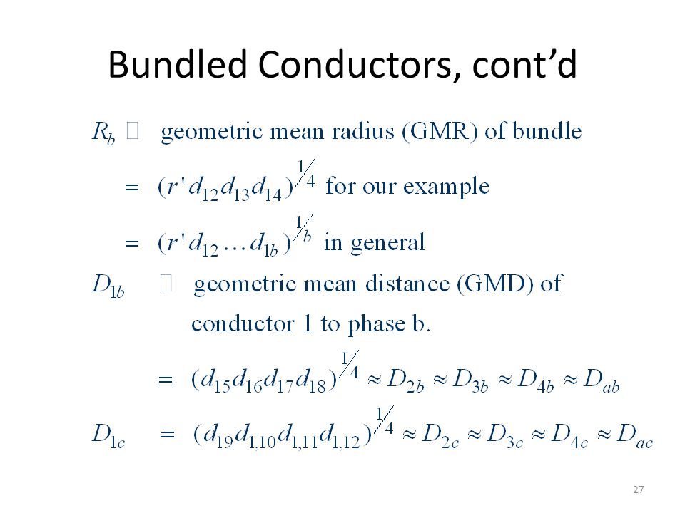 Bundled Conductors, cont'd
