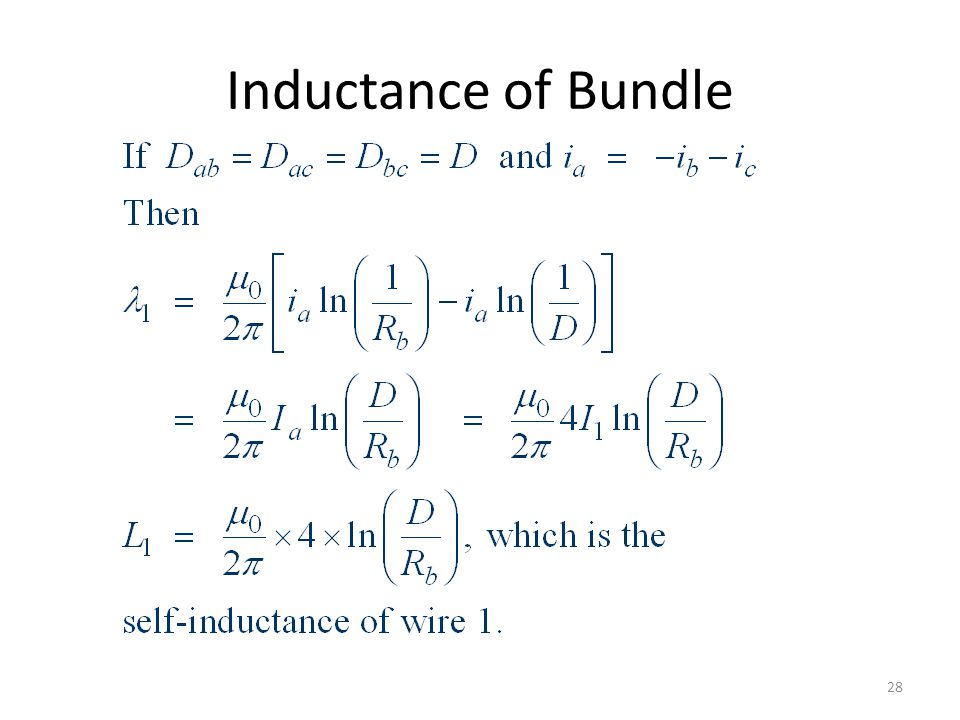 Inductance of Bundle