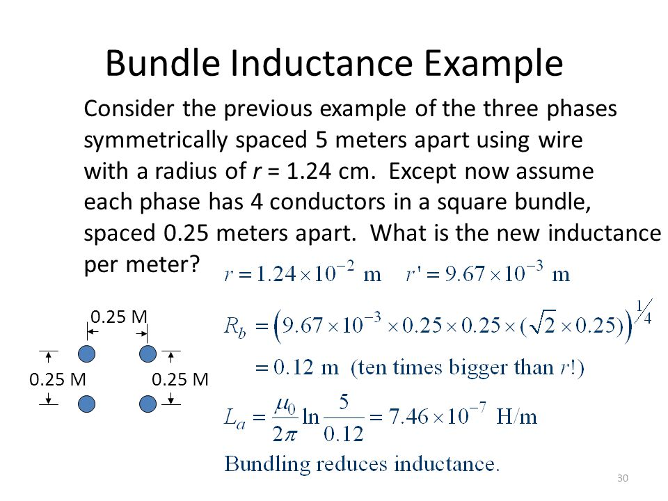 Bundle Inductance Example