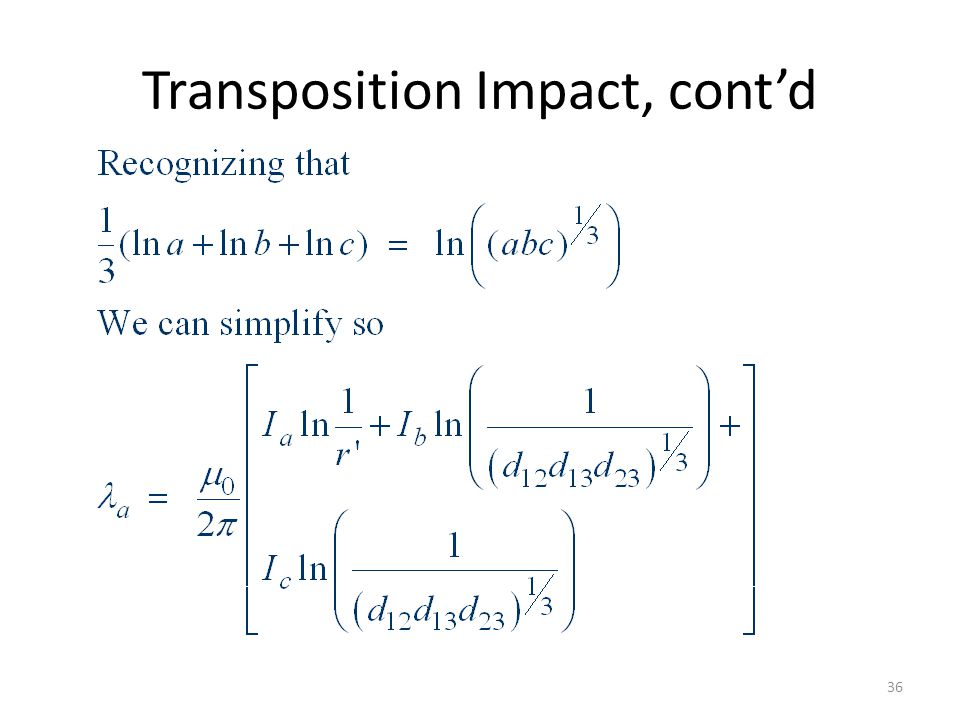 Transposition Impact, cont'd
