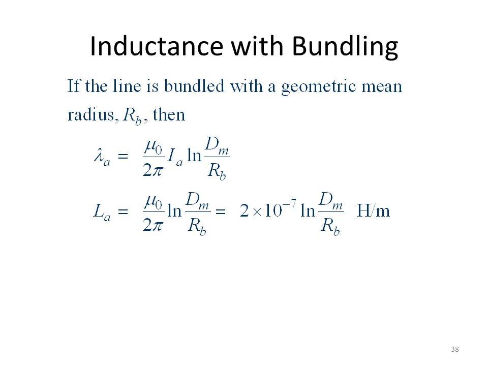 Inductance with Bundling