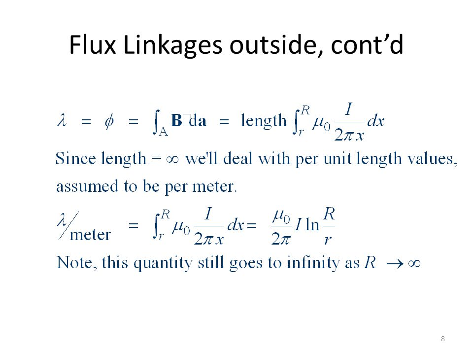 Flux Linkages outside, cont'd