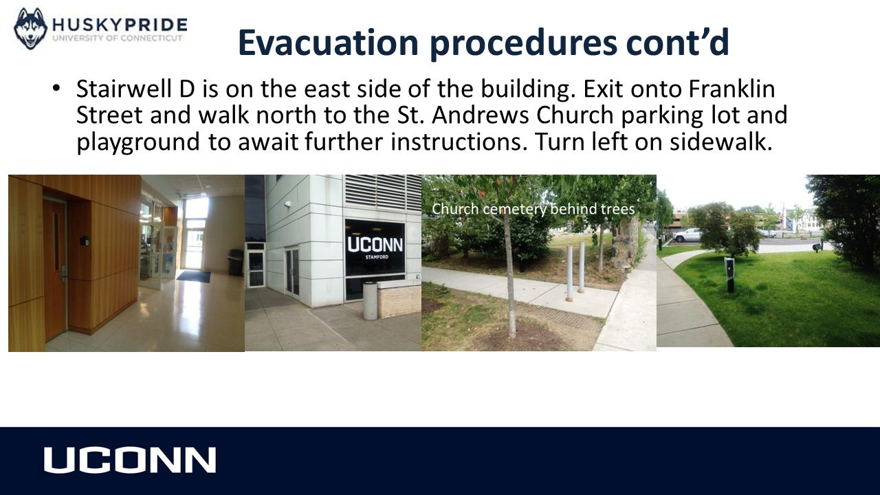 Evacuation procedures cont'd
