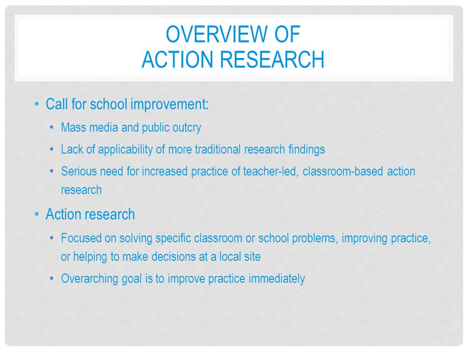 Overview of Action Research