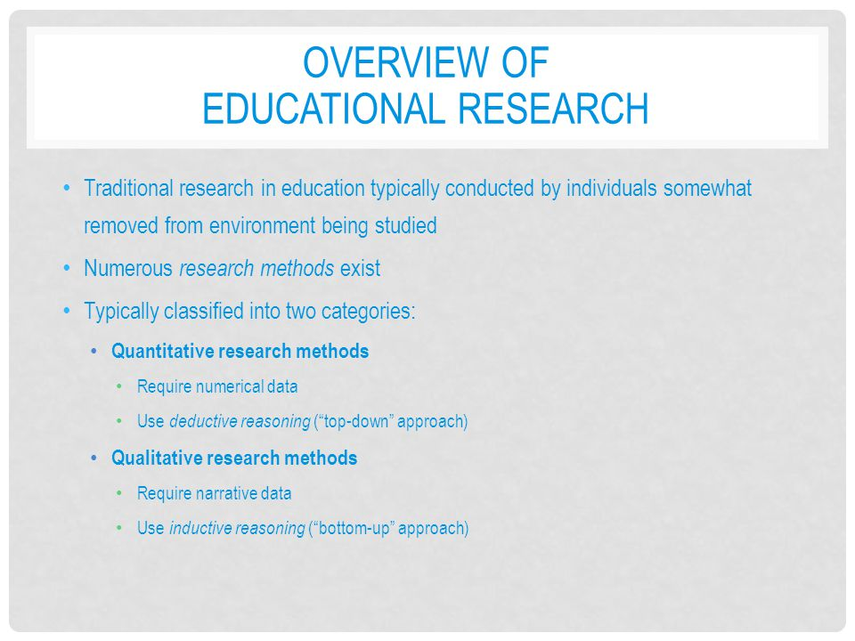 Overview of Educational Research