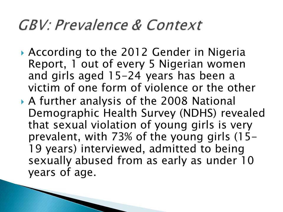 GBV: Prevalence & Context