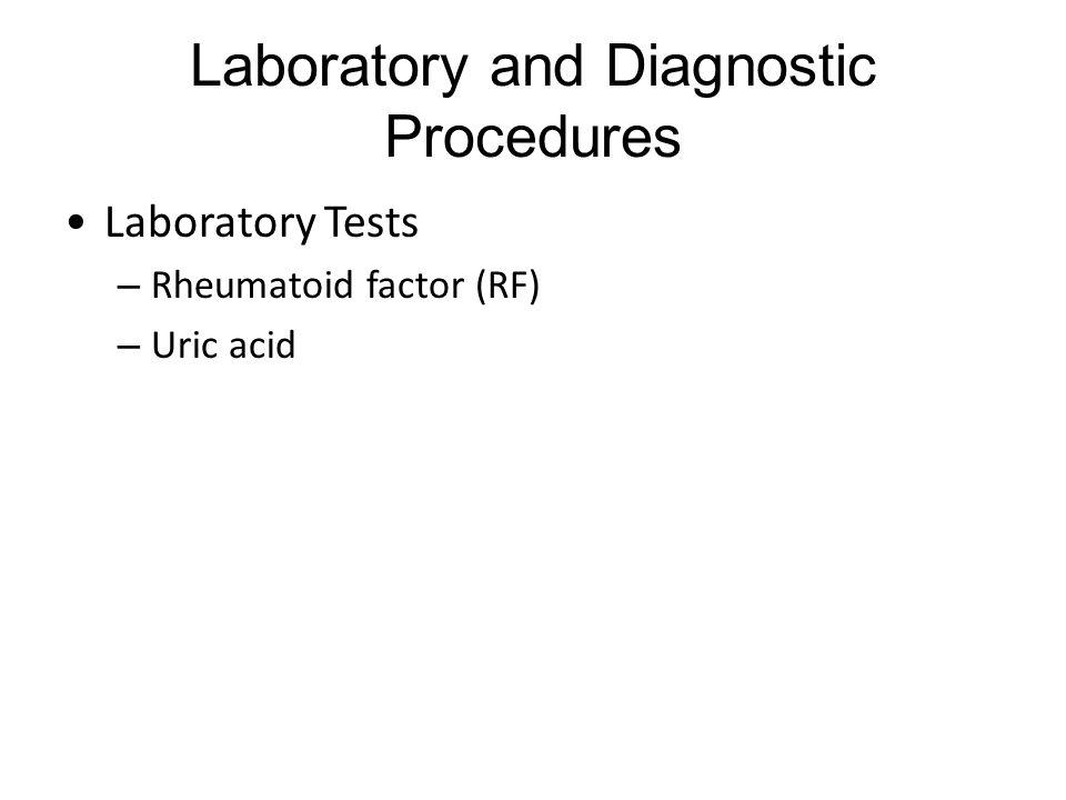 Laboratory and Diagnostic Procedures