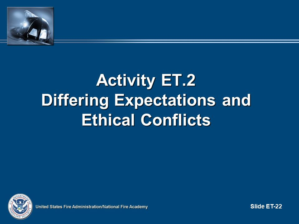 Activity ET.2 Differing Expectations and Ethical Conflicts