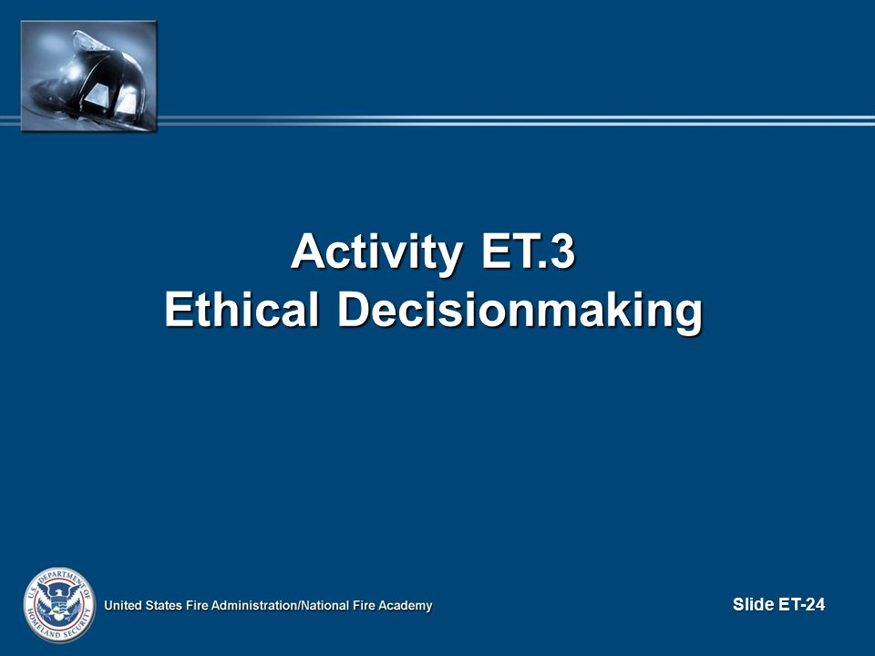 Ethical Decisionmaking