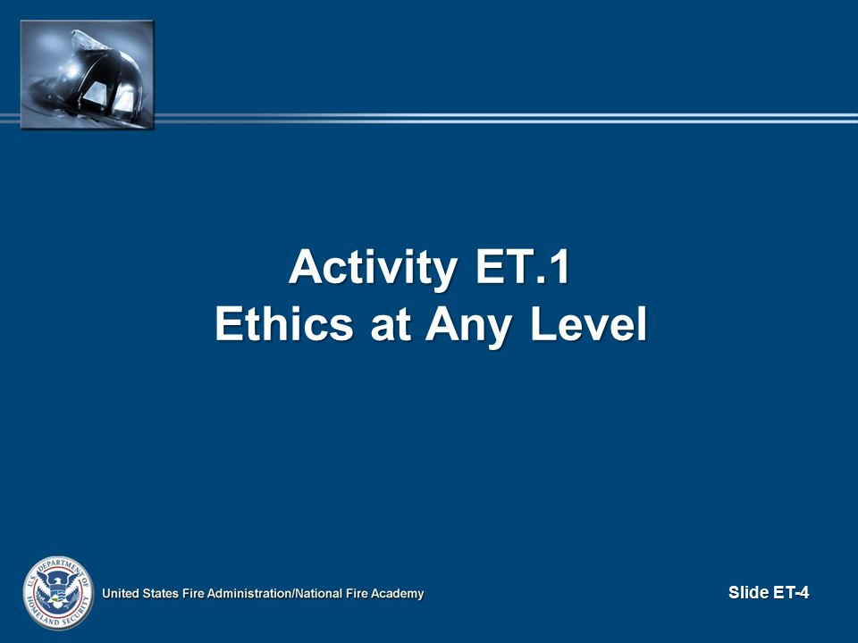 Activity ET.1 Ethics at Any Level