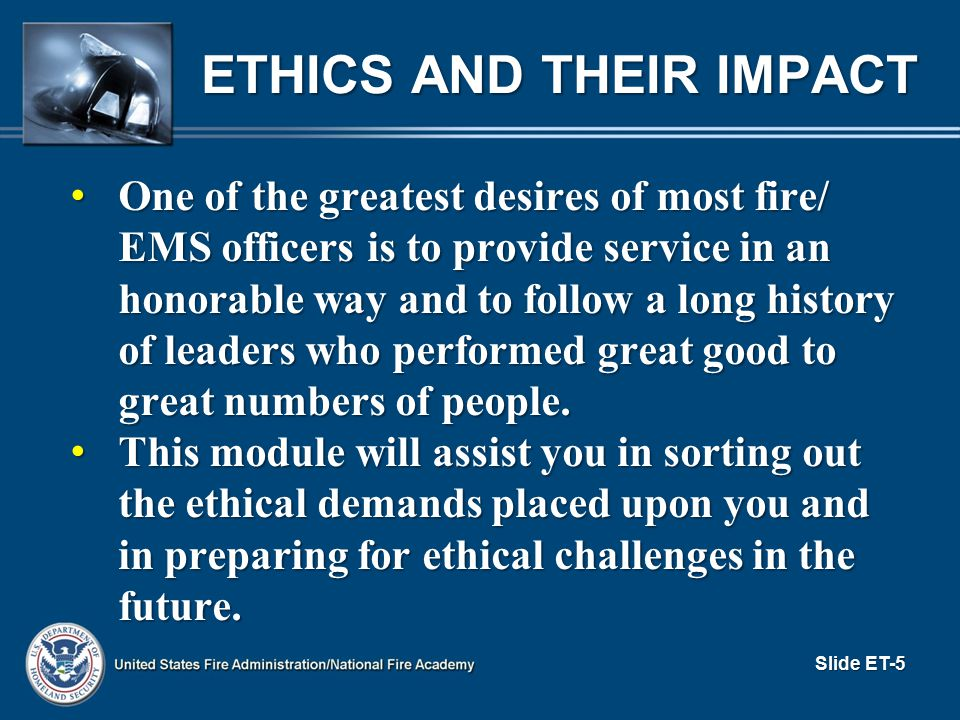 Ethics and Their Impact