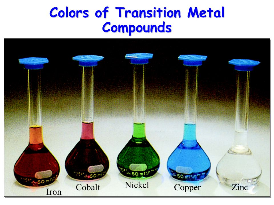 Colors of Transition Metal Compounds