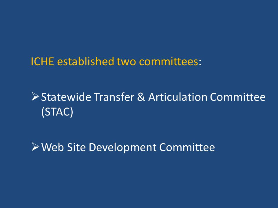 ICHE established two committees: