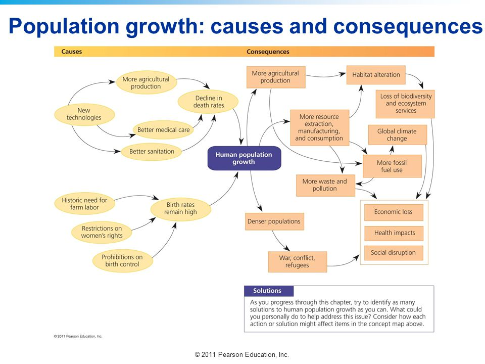 Population growth: causes and consequences