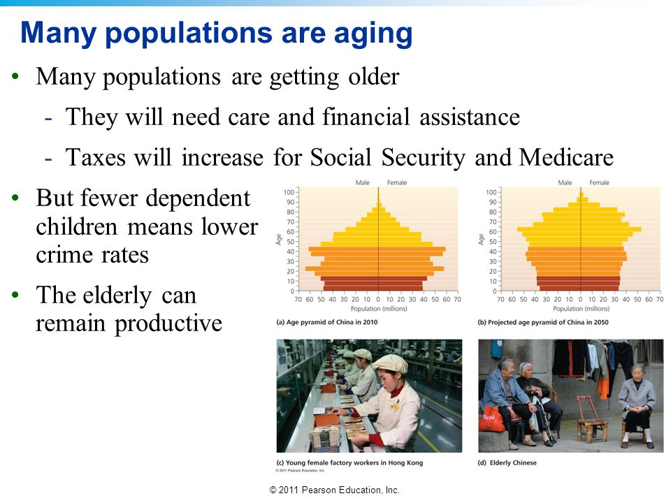 Many populations are aging