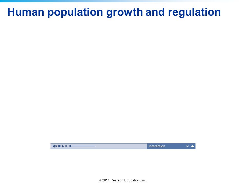 Human population growth and regulation