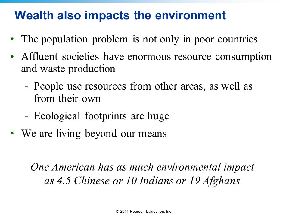 Wealth also impacts the environment