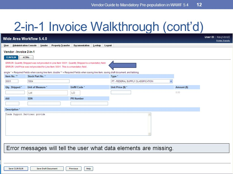 2-in-1 Invoice Walkthrough (cont'd)