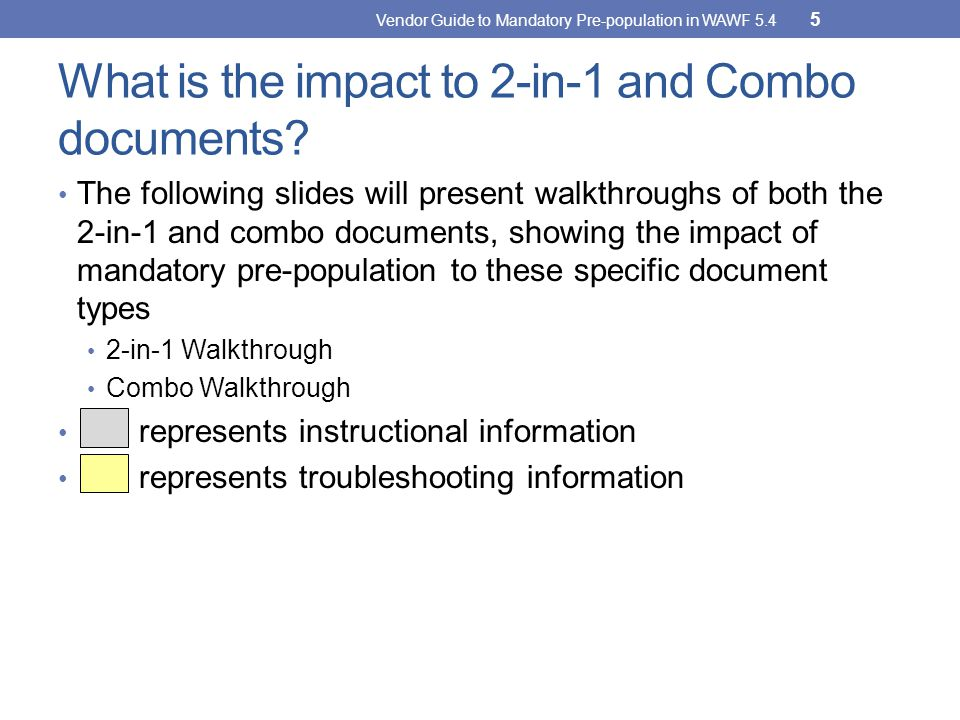 What is the impact to 2-in-1 and Combo documents