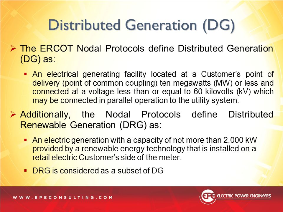 Distributed Generation (DG)