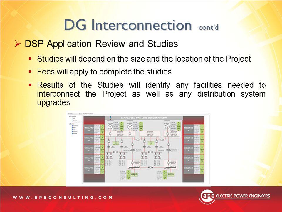 DG Interconnection cont'd