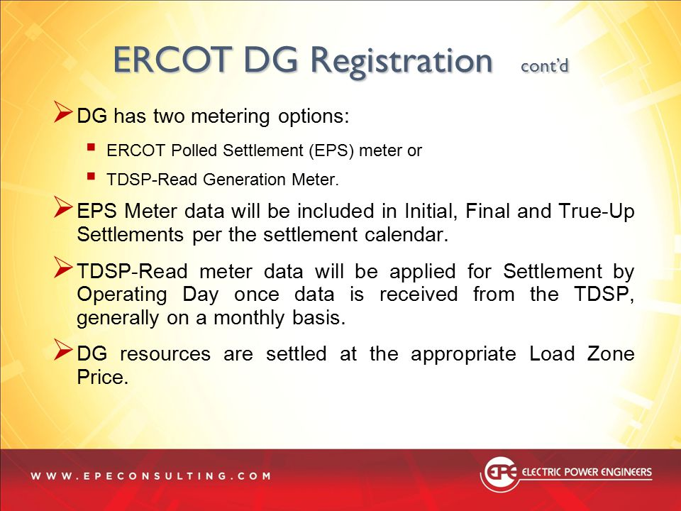 ERCOT DG Registration cont'd