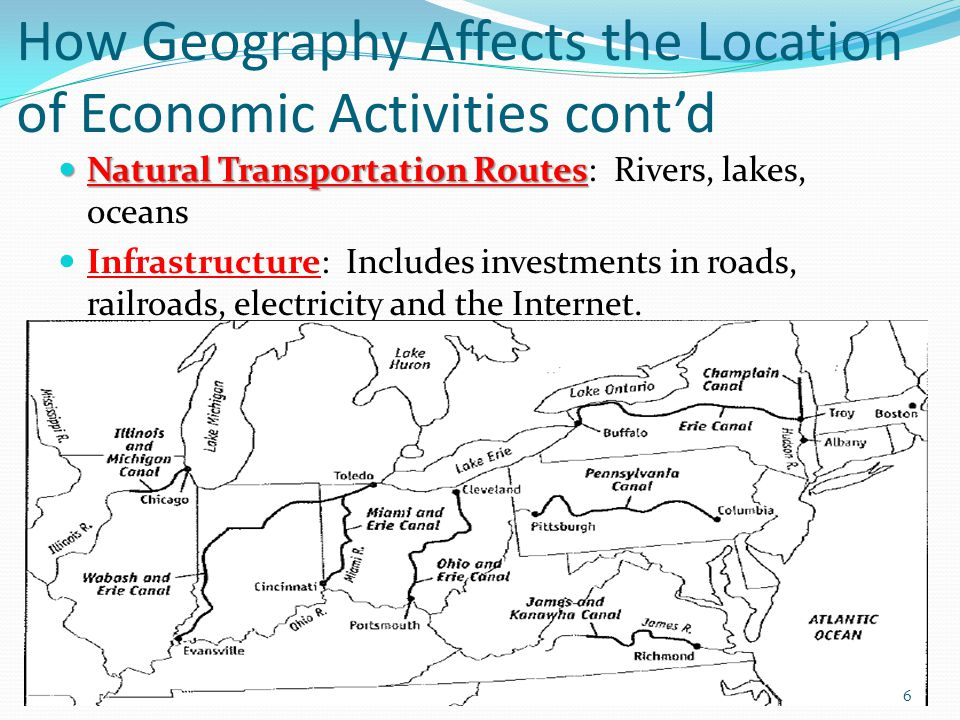 How Geography Affects the Location of Economic Activities cont'd