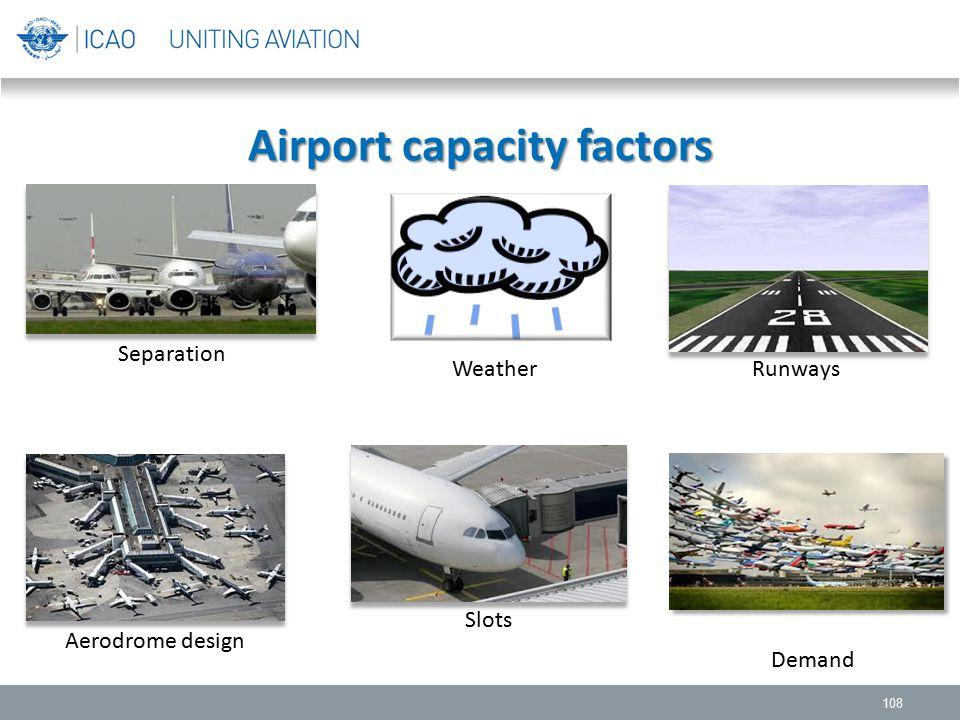 Airport capacity factors