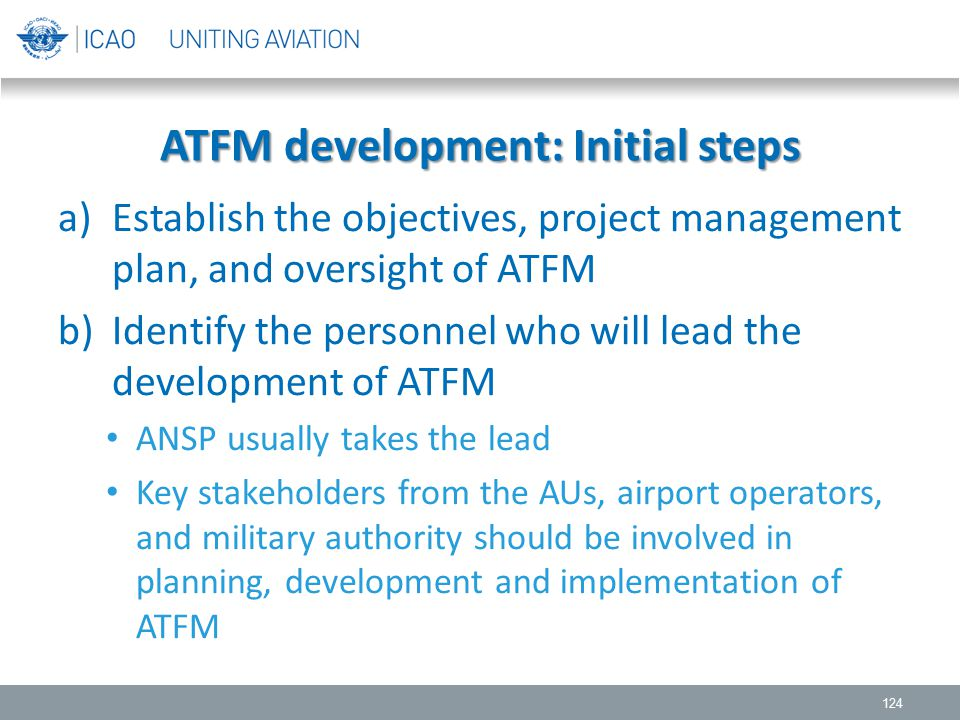 ATFM development: Initial steps