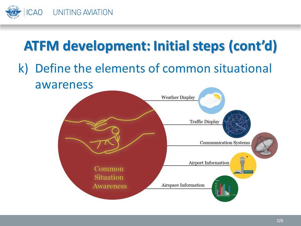 ATFM development: Initial steps (cont'd)