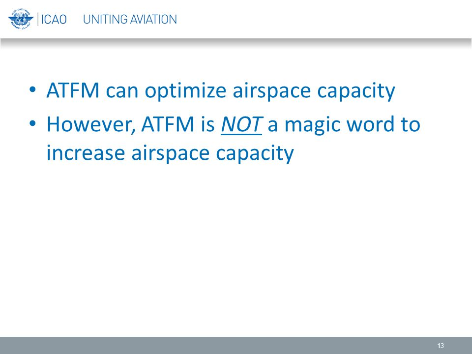 ATFM can optimize airspace capacity