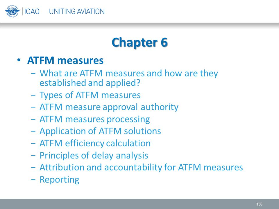 Chapter 6 ATFM measures. What are ATFM measures and how are they established and applied Types of ATFM measures.