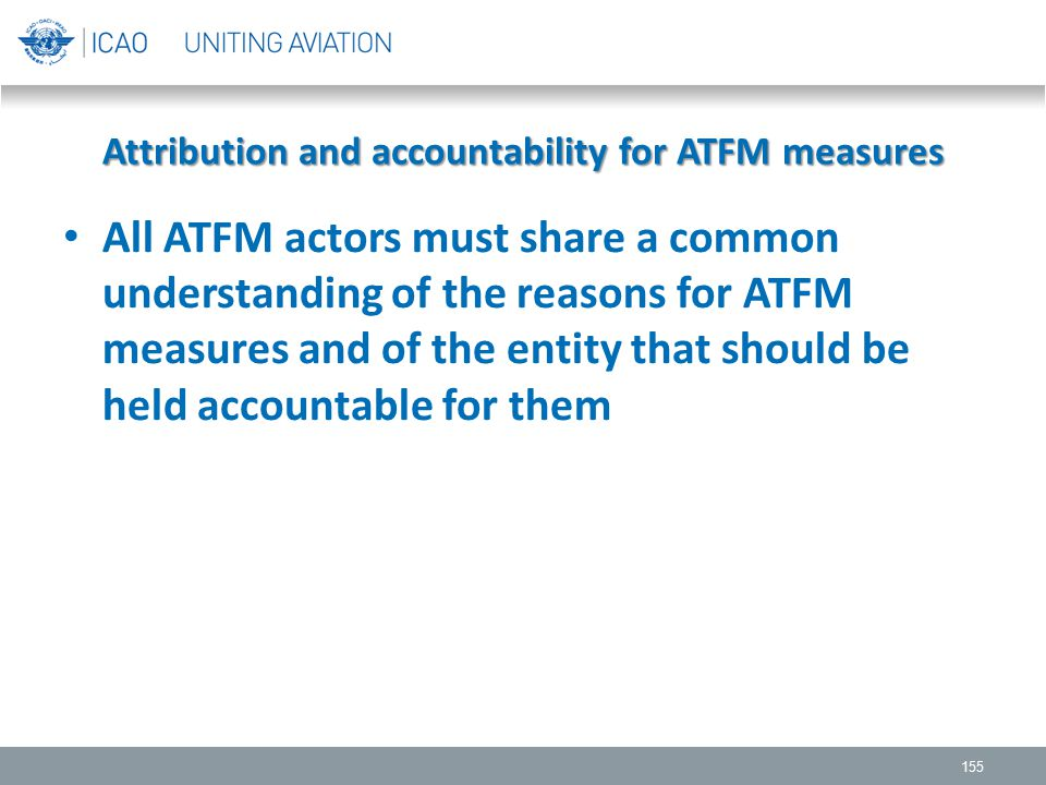 Attribution and accountability for ATFM measures