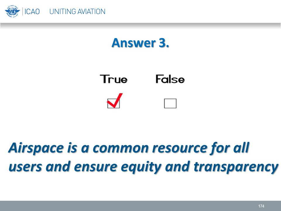 Airspace is a common resource for all