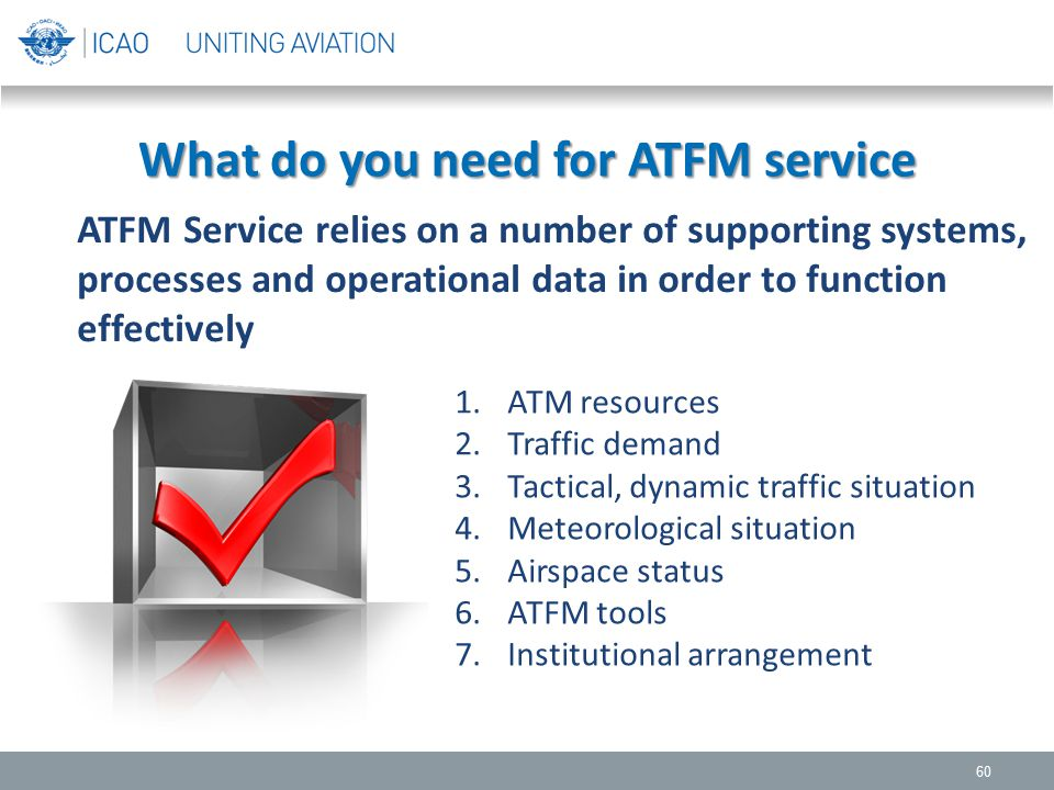 What do you need for ATFM service