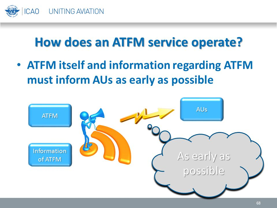 How does an ATFM service operate